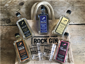 Cornish Rock Gin Collection and Small Jute Bag